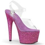 lilla glitter 18 cm Pleaser ADORE-708HMG pole dancing sko