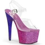 lilla glitter 18 cm Pleaser ADORE-708OMBRE pole dancing sko