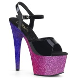 lilla glitter 18 cm Pleaser ADORE-709OMB pole dancing sko