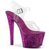 lilla glitter 18 cm Pleaser SKY-308LG pole dancing sko