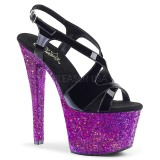 lilla glitter 18 cm Pleaser SKY-330LG pole dancing sko