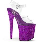 lilla glitter 20 cm FLAMINGO-808LG platå høyhælte sandaler sko