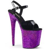 lilla glitter 20 cm Pleaser FLAMINGO-809LG pole dancing sko
