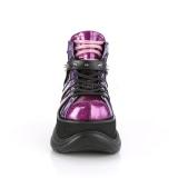 lilla kunstlær 7,5 cm NEPTUNE-100 platå gotisk sko til menn