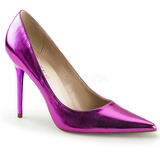 lilla metallic 10 cm CLASSIQUE-20 dame pumps sko stiletthæl