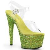 limegrønn glitter 18 cm Pleaser ADORE-708LG pole dancing sko