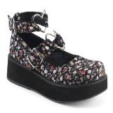 linstoffer 6 cm SPRITE-02 lolita sko gothic platåsko med tykke såler