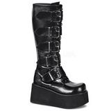 matt 8,5 cm TRASHVILLE-518 platå gotisk støvler til menn