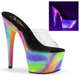 neon 18 cm ADORE-701GXY høyhælte mules - pole dance hæler