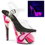 neon 18 cm Pleaser ADORE-708UVR platform høyhælte sko