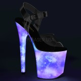 neon 20 cm FLAMINGO-808REFL pole dancing sko