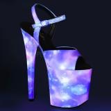neon 20 cm FLAMINGO-809REFL pole dancing sko