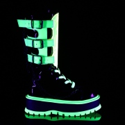 neon 5 cm SLACKER-156 cyberpunk platåstøvler