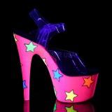 neon glitter 18 cm Pleaser ADORE-708STR pole dancing sko