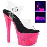 neon glitter 18 cm Pleaser SKY-308UVG pole dancing sko