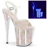 neon glitter 20 cm FLAMINGO-810UVG pole dancing sko