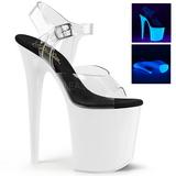 neon hvit 20 cm Pleaser FLAMINGO-808UV høye hæler damer sko
