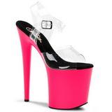 neon pink 20 cm Pleaser FLAMINGO-808UV høye hæler damer sko