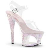 opal 18 cm MOON-708LG glitter platå høye hæler dame