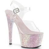 opal glitter 18 cm Pleaser ADORE-708LG pole dancing sko