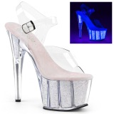 opal glitter 18 cm Pleaser ADORE-708UVG pole dancing sko
