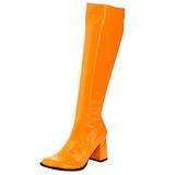 orange neon 8,5 cm GOGO-300UV høye damestøvler til menn