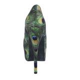 påfugl mønster 14,5 cm TEEZE-06-5 høyhælte platå pumps