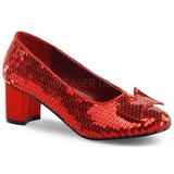 paljetter 5 cm DOROTHY-01 dame pumps sko flate hæl