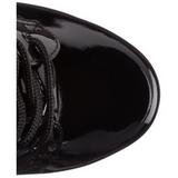 patentlær 20 cm FLAMINGO-1020 ankelstøvletter med platåsåle til dame