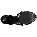 patentlær 20 cm FLAMINGO-831 platform høyhælte sko