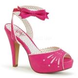 pink 11,5 cm Pinup BETTIE-01 dame sandaler med hæl
