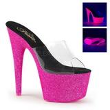 pink 18 cm ADORE-701UVG neon platå slip ins dame med hæler