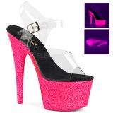 pink 18 cm ADORE-708UVG høyhælte sandaler neon platå
