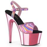 pink 18 cm ADORE-709HGCH hologram platå høye hæler dame