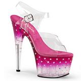 pink 18 cm STARDUST-708T platå høyhælte sandaler sko