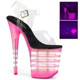 pink 20 cm FLAMINGO-808UVLN høyhælte sandaler neon platå