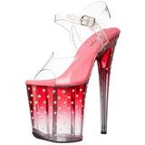 pink 20 cm STARDUST-808T platå høyhælte sandaler sko