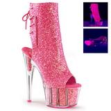 pink glitter 18 cm ADORE-1018G ankelstøvletter med platåsåle til dame