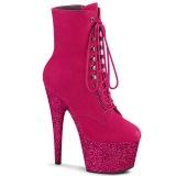 pink glitter 18 cm ADORE-1020FSMG høyhælte ankelstøvletter - pole dance støvletter