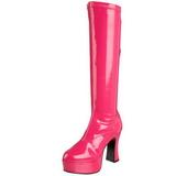 pink lakk 11 cm Funtasma EXOTICA-2000 platå høye støvler