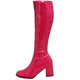 pink lakk 7,5 cm Funtasma GOGO-300 høye støvler dame