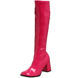 pink lakk 8,5 cm Funtasma GOGO-300 høye støvler dame