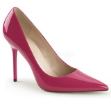 pink lakkert 10 cm CLASSIQUE-20 spisse pumps med stiletthæler