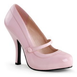 pink lakkert 12 cm CUTIEPIE-02 dame pumps sko flate hæl
