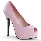 pink lakkert 13,5 cm BELLA-12 dame pumps sko stiletthæl