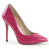 pink lakkert 13 cm AMUSE-20 dame pumps sko stiletthæl