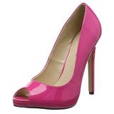 pink lakkert 13 cm SEXY-42 klassiske pumps sko til dame