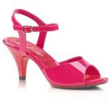 pink lakkert 8 cm BELLE-309 dame sandaletter lavere hæl