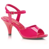 pink lakkert 8 cm BELLE-309 high heels sko til menn