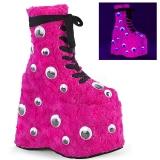 pink pels 18 cm SLAY-206 lolita ankelstøvletter platå